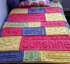 You are my sunshine crochet blanket