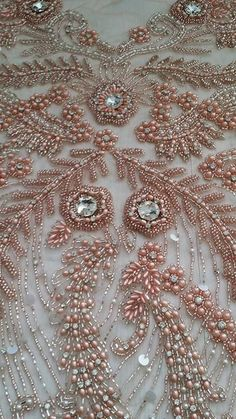 Flower bead embroidery