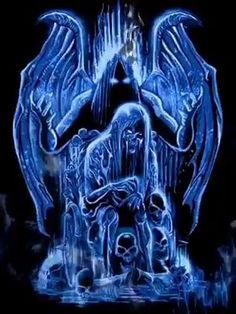 Haunted by HenRyZoel Grim Reaper Art, Don't Fear The Reaper, Horror Artwork, Skull Artwork, Leo Tattoo Designs, Skull Stencil, Mickey Mouse Art, Totenkopf Tattoos, Beautiful Dark Art