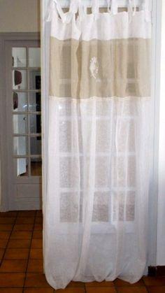 Panneau de fenêtre lin monogramme personnalisé par LinenAndLetters