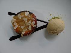 Poached pear tart, Pedro Ximénez icecream