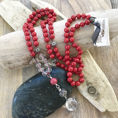 Root Chakra Mala, Mala Necklace, 108 Knotted Mala, Protection Mala, Meditation Beads, Mantra Meditation Beads, Mala Beads