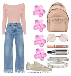 """Todays outfit"" by ana-pau02 on Polyvore featuring A.L.C., 3x1, Reebok, STELLA McCARTNEY, Sunday Somewhere, Charlotte Tilbury, Cover FX and Cartier"