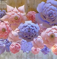 bellaimpressions | Paper Flower Backdrops