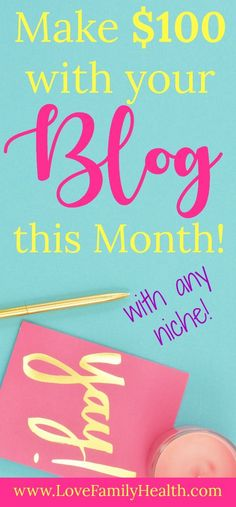 Work from home and make some money with your blog this month! #blogging