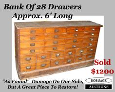 Imagine this one all refinished!  www.robsageauctions.com