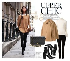 """""""The Poncho Goes Classic"""" by katsin90 ❤ liked on Polyvore featuring T By Alexander Wang, Chloé, Yves Saint Laurent, Diego Percossi Papi and poncho"""