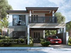 Do you look for a heart touching design? Are you really scared of ugly houses? Is there really no hope for you to find your best house design after each day surfing? Two Story House Design, 2 Storey House Design, Bungalow House Design, House Design Photos, Modern Bungalow, House Front Design, Cool House Designs, Two Storey House, Modern House Floor Plans