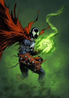 Yep, just Spawn. Original pencils by Inks by Now you can support me on Patreon Spawn - colors Comic Book Characters, Comic Character, Comic Books, Spawn Comics, Marvel Dc Comics, Marvel Venom, Marvel Art, Image Comics, Geeks