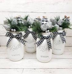 Black and White Christmas Decor Buffalo Plaid Christmas | Etsy