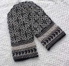 I hand-knitted mittens using this Estonian pattern. Estonians are extreme knitters