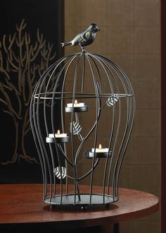 Swirl Candelabra Ball Candle Holder Wall Sconce Wrought Iron Decor