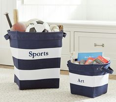 Storage for sports equipment for kids
