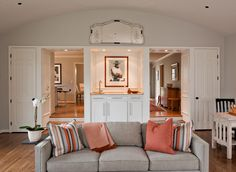 """Family Room After """"A Ranch House Transformation"""" This home was completely remodeled without adding a single square foot and stayed on budget. @TheWillsCompany"""