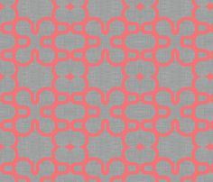 F's bedding - coral_lined_mosaic fabric by holli_zollinger on Spoonflower - custom fabric
