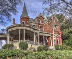 This Victorian is a true classic with the Tower,round Porch and multiple gables. Victorian Architecture, Beautiful Architecture, Beautiful Buildings, Beautiful Homes, Victorian Style Homes, Victorian Houses, Victorian Decor, Victorian Bedroom, Victorian Cottage