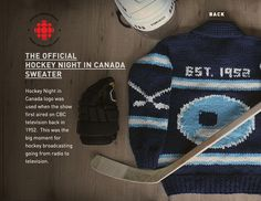 Official Hockey Night in Canada sweater Canada Logo, Herschel Heritage Backpack, Collaboration, Hockey, Custom Design, In This Moment, Sweater, Night, Logos