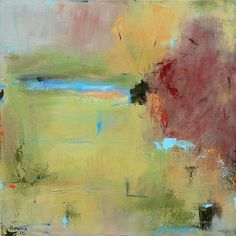 Early Autumn Landscape  24x24 Contemporary Abstract by jgouveia, $950.00