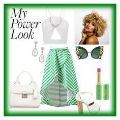 """my power look"" by msyoyo60 ❤ liked on Polyvore featuring Miu Miu, Dolce&Gabbana, Henri Bendel and Tata Harper"