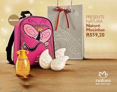 Presente Natura Naturé Mocinhas - Colônia Mocinhas + Sabonete em Barra + Mochila + Embalagem Desmontada