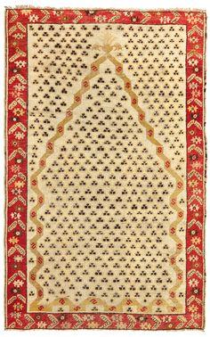 A Kirschir prayer rug West Anatolia late 19th early 20th century cm 156x100. Sides not originally. from cambi casa d'este