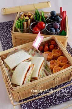 picnic bento.. I love the way it looks!