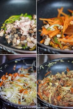 Taitei chinezesti | Bucatar Maniac Asian Recipes, Ethnic Recipes, Chinese Food, Japchae, Noodles, Cake Recipes, Cabbage, Food And Drink, Lunch