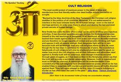 """A catastrophe will be understandable if one considers that the cult religions have attained immense power, which so far has enabled them to suppress, with murderous and sordid means, all truths directed against them. They will again attempt to do this, even if it means indulging in murder as has often been the case in the past."""" - Billy Meier,  Talmud Jmmanuel,  Introduction"""