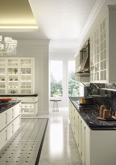 Fine deatils and intricate motifs define the true style of this classic Snaidero kitchen