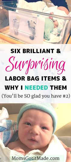 Six unconventional hospital bag items I am so glad I had with my when my son was born. Advice for pregnant moms-to-be on items nobody thinks to pack for the hospital that you may wish you had during labor, recovery and newborn care. #baby #Birth #hospital #packing