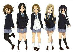Yui Hirasawa, Mio Akiyama, Ritsu Tainaka, Tsumugi Kotobuki, Azusa Nakano