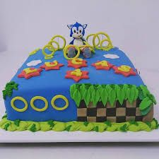 Bolo do sonic quadrado Sonic Birthday, Birthday Cake, Bolo Sonic, Sonic Birthday Parties, Cake Ideas, Decorating Cakes, Kids Part, Creativity, Birthday Cakes
