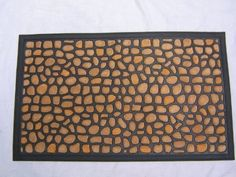 "WATERHOG PEBBLE STONE DOOR MAT SIZE 18"" X30"" LOW CLEARANCE by FOREVER MATS. $18.99. Indoor and outdoor use. Water Retainer. Absorbs the water from wet feet. Anti skid rubber backing. Rubber backing gives a firm grip on wooden/Carpeted/Vinyl floor. Nice water hog Welcome Door mat is made of polypropylene and Natural rubber backing.The  brush provides unmatched scrubbing action and moisture absorption.This mat can be used Indoors and outdoors. This mat will give a nice welcoming at..."