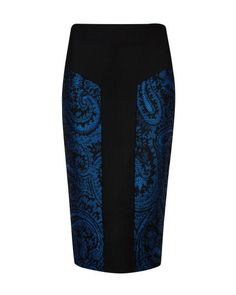 Jacquard pencil skirt - Black | Skirts | Ted Baker UK
