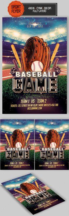 Baseball Memory Mate Template - T4 Flyer Templates Flyer - baseball flyer