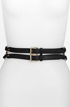 Black Cole Haan 'Zoe' Wide Waist Belt | Nordstrom