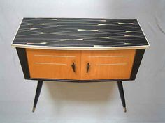 1950s mini sideboard credenza commode 60s mid century modern Danish vintage
