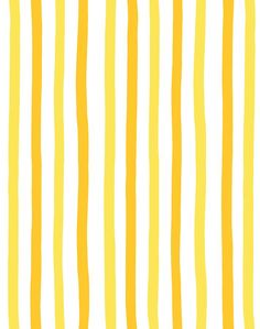 'Stripes' Wallpaper by Clare V. - Yellow - Removable Panel