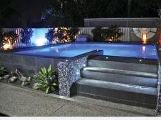 Amazing ideas for small backyard landscaping - Great Affordable Backyard ideas Backyard Pool Designs, Small Backyard Pools, Small Pools, Swimming Pools Backyard, Swimming Pool Designs, Outdoor Pool, Backyard Landscaping, Small Decks, Backyard Bar