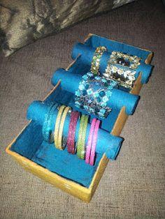 Bangle box upcycle... and I make a LOT of bracelets, LOL.