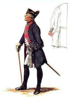 SOLDIERS- Menzel: SYW- Prussia: Prussian Infantry Regiment Prinz von Preussen No 18, by Adolph Menzel.