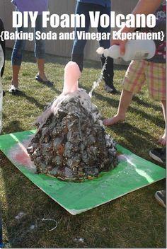 DIY Foam Volcano perfect for the baking soda and vinegar experiment #experiments @keepingitsimple