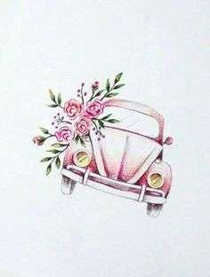 Beautiful volkswagen print - Beautiful volkswagen print You are in the right pla. - Beautiful volkswagen print – Beautiful volkswagen print You are in the right place about car lamb - Watercolor Tatto, Watercolor Paintings, Beetle Tattoo, Vw Tattoo, Geometric Tatto, Decoupage, Love Bugs, Cute Drawings, Art Sketches