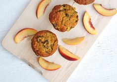 Anja's Food 4 Thought: Nectarine Oatmeal Muffins
