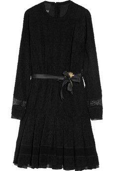 Meadham Kirchhoff Loelia stretch-bouclé dress NET-A-PORTER.COM - StyleSays
