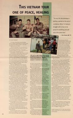 """Ohio University Today, Spring """"This Vietnam Tour One of Peace, Healing. Vietnam Veterans Day, Day Schedule, Vietnam Tours, Film Studies, Oral History, Video Film, Im Trying, Us Army, The Borrowers"""