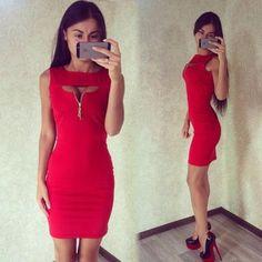 Stunning Slim Hip Open Chest Trendy Dress