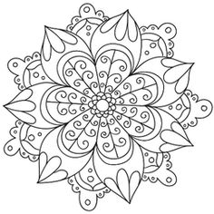 Mandala with flowers # 6 Source by Mandalas Drawing, Mandala Coloring Pages, Coloring Book Pages, Printable Coloring Pages, Doodle Patterns, Zentangle Patterns, Color Patterns, Doodle Borders, Zentangles