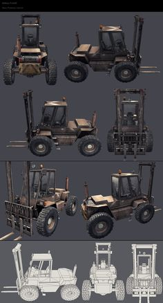 | tiancocker.com | military forklift - Maya, Photoshop, xNormal.
