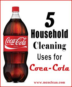Did you know that Coca Cola can be used for cleaning? Check out my top 5 household cleaning Uses for Coca Cola. Cleaning With Coke, Deep Cleaning Tips, Cleaning Recipes, Green Cleaning, Diy Cleaning Products, Cleaning Solutions, Spring Cleaning, Cleaning Hacks, Organizar Closets